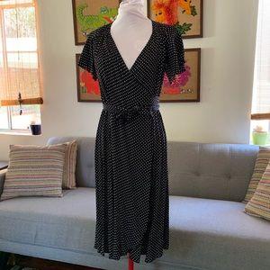 Vintage inspired wrap around dress